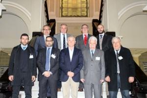 Miembros de la delegación del Puerto de Nador junto a representantes del Puerto de Málaga con el Presidente de la Autoridad Portuaria de Málaga a la cabeza